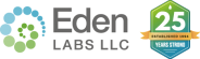 Eden Labs-Logo 25 Years Strong